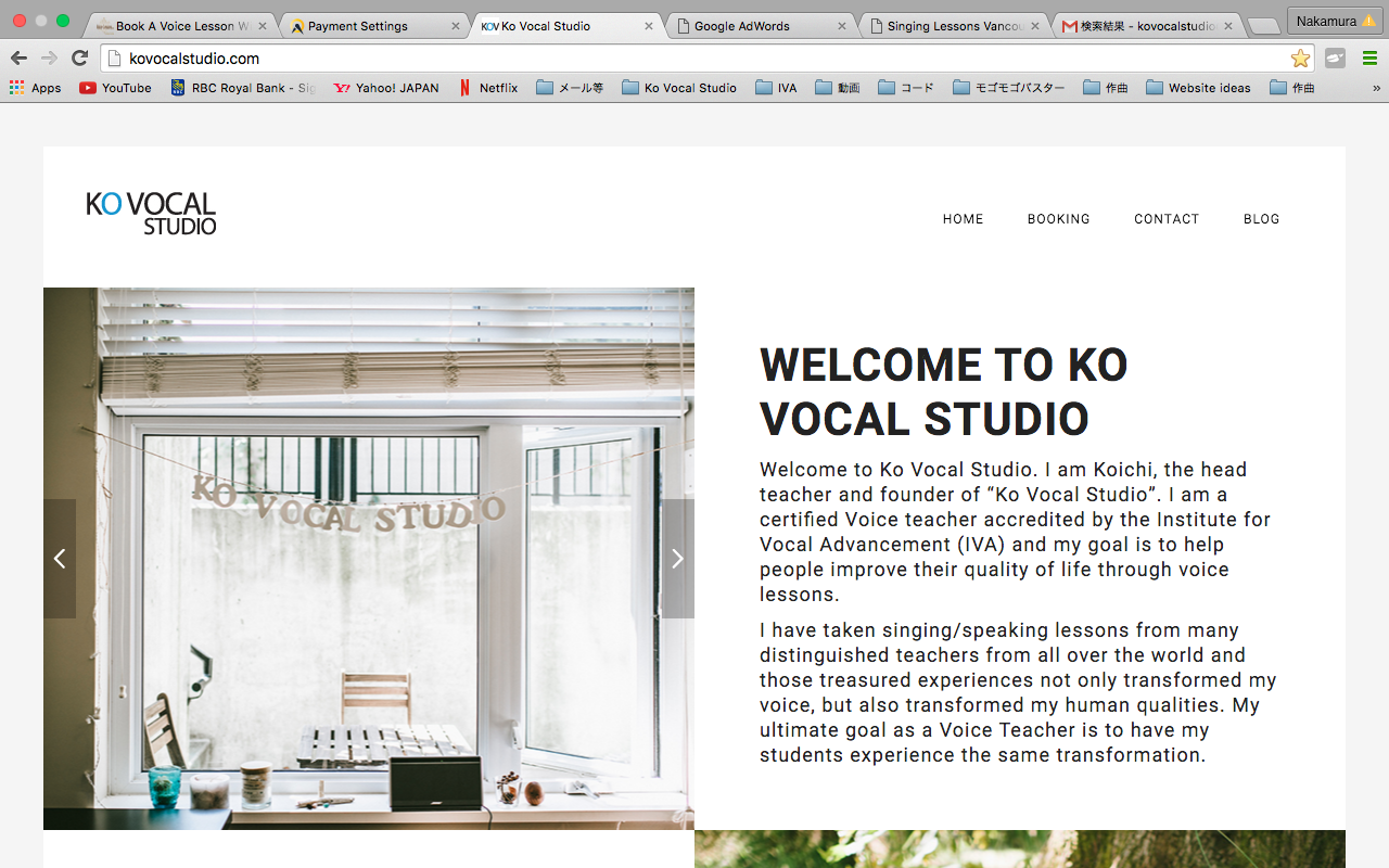Ko Vocal Studio Website is up and running!
